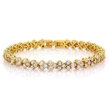 9.90ctw White Sapphire Bracelet