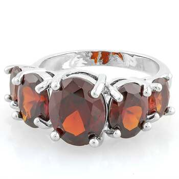 AAA+ Grade Red Cubic Zirconia CZ Ring Size 7