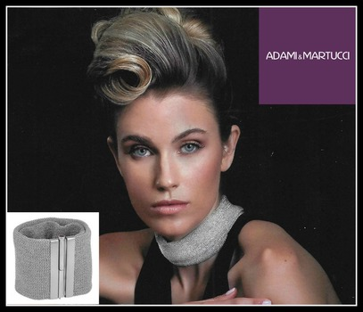 Adami & Martucci Italian Designer .925 Sterling Silver Silver Tone Set of Necklace & Bracelet