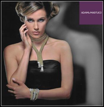 Adami & Martucci Italian Designer Mesh Collection Extra Long Gold Tone Necklace