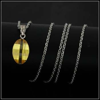 Authentic Lorenzo .925 Sterling Silver, 3.25ctw Yellow Sapphire Necklace