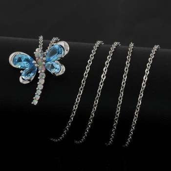 Authentic Lorenzo .925 Sterling Silver, Blue Topaz & Opal Necklace
