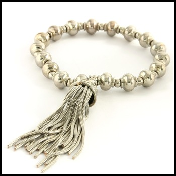 Bead Stretch Bracelet with a Tassel
