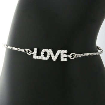 Beautifully Created Fine White Sapphire Adjustable Love Bracelet