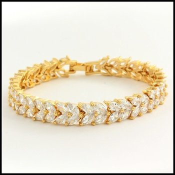 Beautifully Created Fine White Sapphire Bracelet
