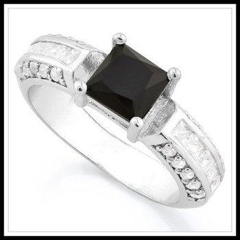 Black & White Sapphire Ring Size 8