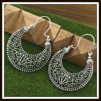 Boho Filigree Hoop Earrings