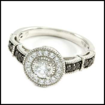 Bridal Engagement Ring 0.65ctw .925 Sterling Silver