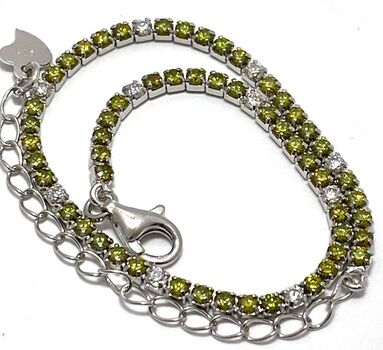 BUY NOW Solid .925 Sterling Silver, 2.00ctw Cubic Zirconia Tennis Bracelet