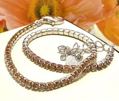 BUY NOW Solid .925 Sterling Silver, 2.00ctw Golden Topaz Tennis Bracelet