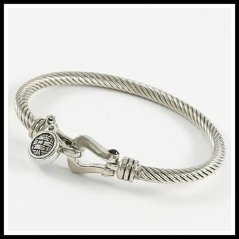 Cable Bangle Bracelet