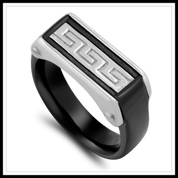 Designer Two-Tone Men's Ring Size 10