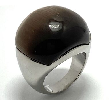 Dome Ring - 24mm in Diameter Cat Eye Ring Size 7