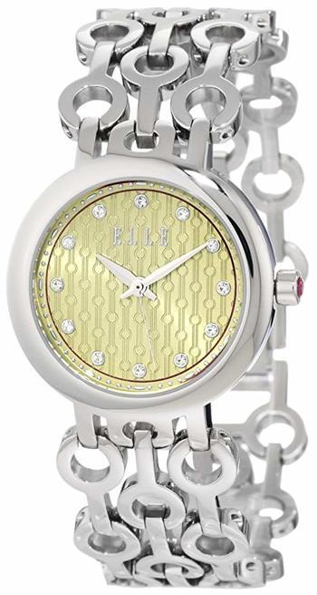 Elle Analog Gold Dial Women's Watch