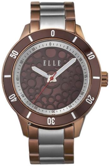 ELLE Brown Stainless Steel Watch