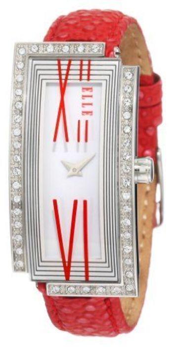 ELLETIME Women's Red Alligator Leather Watch