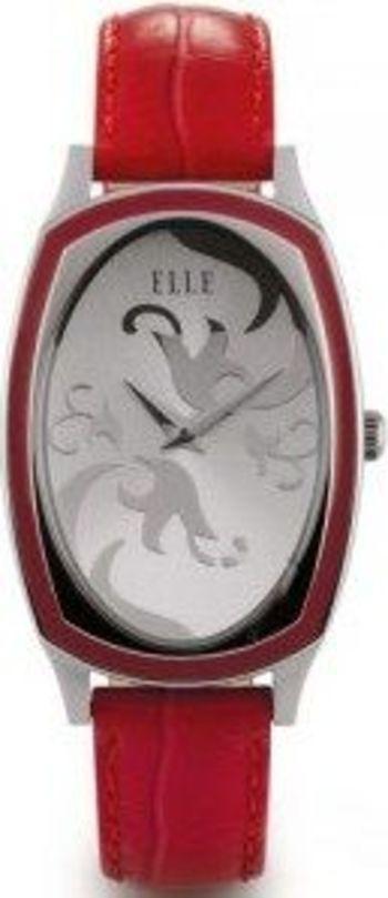 ELLETIME Women's Steel RED Leather Strap Watch