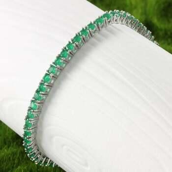 Emerald Classic 4 Prong Tennis Bracelet