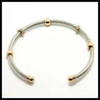 Fine Jewelry Brass with 3x 14k Gold Overlay, 0.15ctw AAA Grade CZ's Bracelets