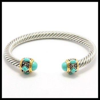 Fine Jewelry Brass with 3x 14k Gold Overlay, 1.45ctw Tourmaline Bracelets