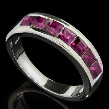 Fine Jewelry Brass with 3x 14k Gold Overlay Amethyst Ring Size 6