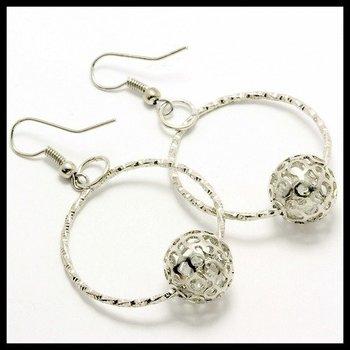 Fine Jewelry Brass with 3x 14k Gold Overlay,1.25ctw AAA Grade CZ's Earrings