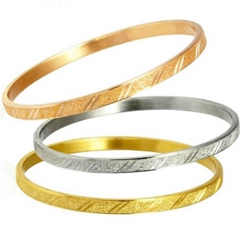 Fine Jewelry Brass with 3x 14k Rose, White & Yellow Gold Overlay Set of Three Bracelets