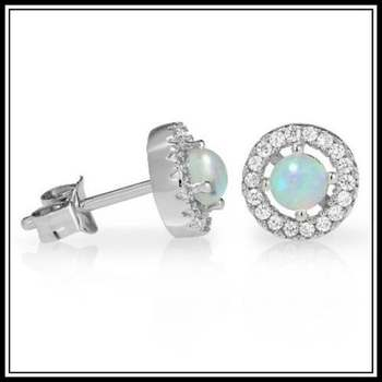 Fine Jewelry Brass with 3x Gold Overlay AAA+ Grade Mystic Color Cubic Zirconia Stud Earrings
