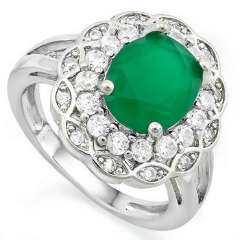 Fine Jewelry Brass with 3x Gold Overlay Emerald Ring Size 6.5
