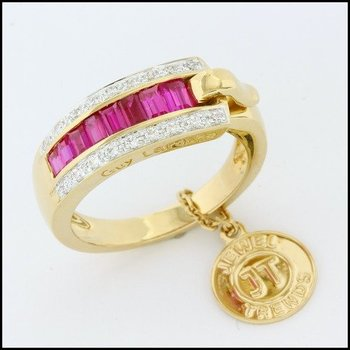 Fine Jewelry Brass with 3x Yellow Gold Overlay Pink Tourmaline Ring Size 6.5