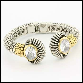 Fine Jewelry Brass with White&YellowGold Plated, 8.0ctw (AAA) Grade CZ's Bracelet