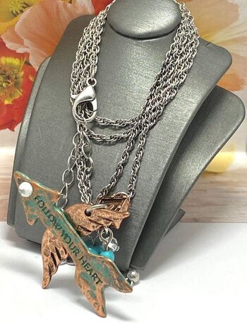 """""""Follow your heart"""" Necklace"""