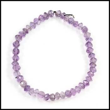 Genuine Amethyst Beads Stretch Bracelet