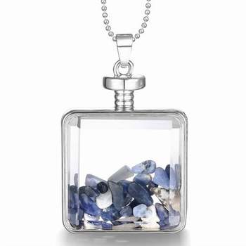Genuine Blue Quartz Necklace
