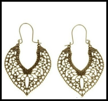 Gold Over High Polish Layered Lead Free High End Jewelry Earrings