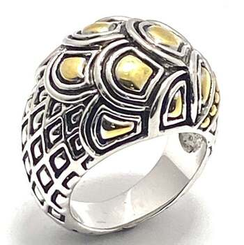 Large Two-Tone Ring Size 7