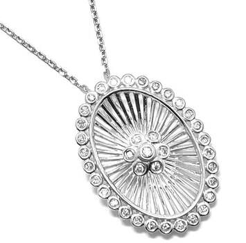 Lorenzo .925 Sterling Silver 0.219ct of 37 Genuine Diamonds Drop Necklace
