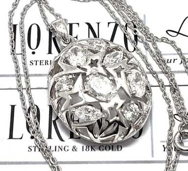 Lorenzo .925 Sterling Silver, 3.33ct AAA Grade CZ's Necklace