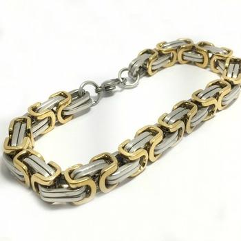 Men's  45.0 Grams Two-Tone Stainless Steel Bracelet
