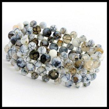 Multi Strand Marble Quartz Stretch Bracelet