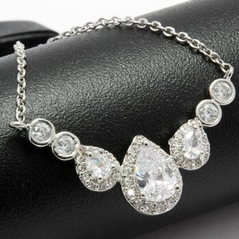 NO RESERVE 1.05ctw Created White Sapphire Necklace