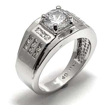NO RESERVE 1.0ctw White Diamonique Ring Size 7