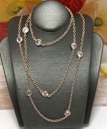 NO RESERVE 1.50ctw White Diamonique Diamonds by the Yard Necklace