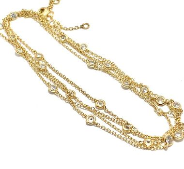 """NO RESERVE 48"""" Long """"Diamond by the Yard"""" Necklace with 0.60ctw Cubic Zirconia"""