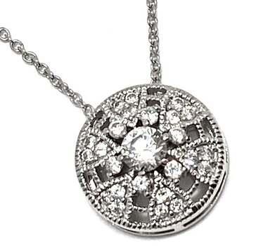 NO RESERVE .925 Sterling Silver, 0.25ctw White Diamonique Necklace