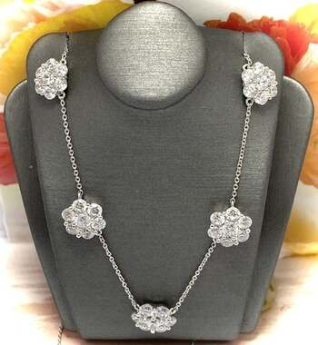 NO RESERVE .925 Sterling Silver, 2.25ctw White Diamonique Necklace