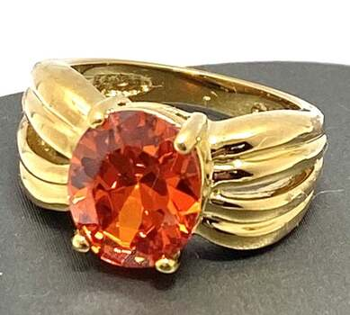 NO RESERVE  .925 Sterling Silver, 7.75ctw Citrine Ring Size 6