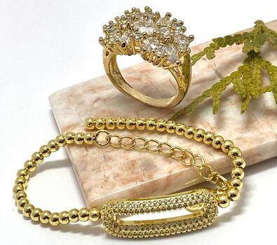 NO RESERVE Lot of 6.00ctw  White Sapphire Ring Size 7 & 1.10ctw White Sapphire Bracelet