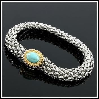NO RESERVE Pressed Turquoise Magnetic Bracelet