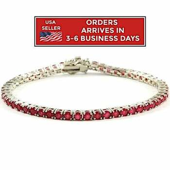 NO RESERVE Ruby Tennis Bracelet